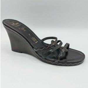 Italian Shoemakers Shoes Wedges Size 7 Leather